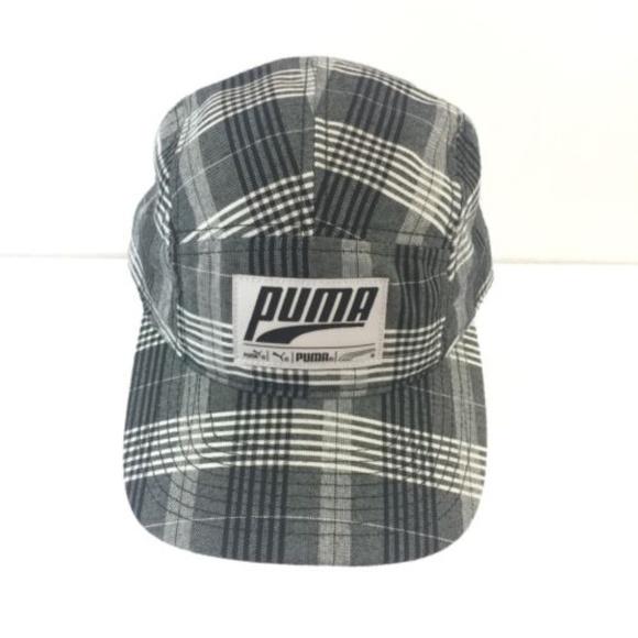 2251f596832 Puma Plaid Retro Patch Logo 5 Panel Camper Hat Cap.  M 5b5a7cf6c61777dda6c30a9d